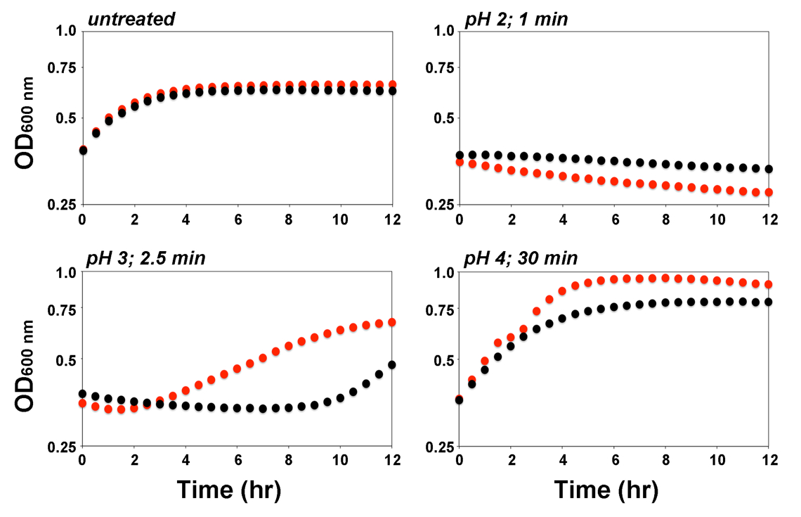 Detection of the pH-dependent Activity of Escherichia coli