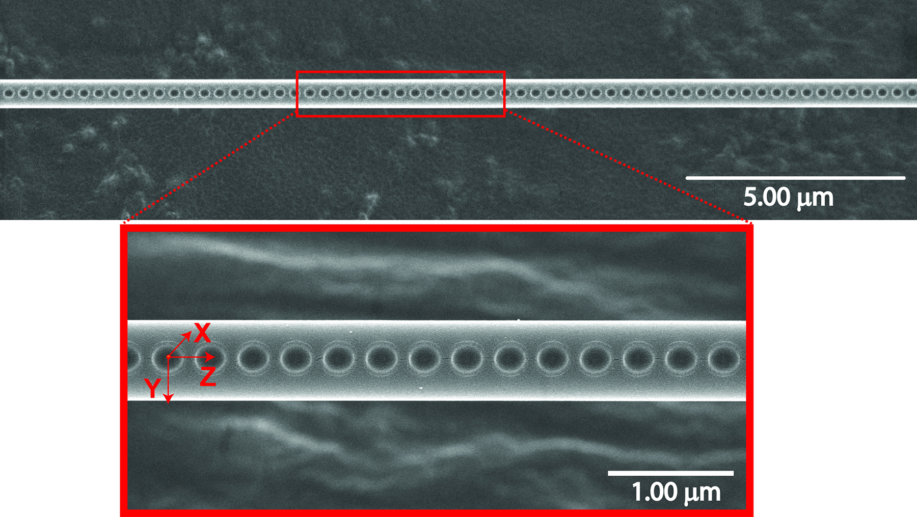 Fabrication of 1-D Photonic Crystal Cavity on a Nanofiber