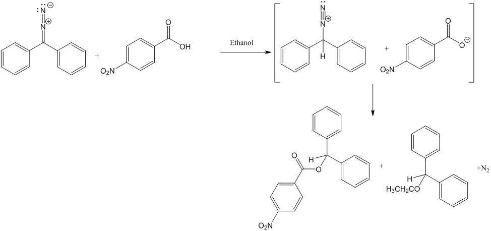 Continuous Flow Chemistry: Reaction of Diphenyldiazomethane